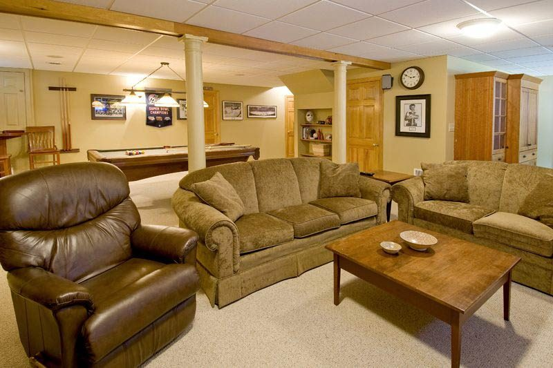 basement recreation area